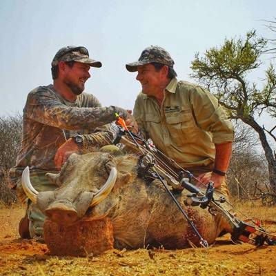 Plains game bow hunt in Namibia