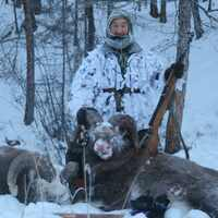 Yakutia snow sheep hunt