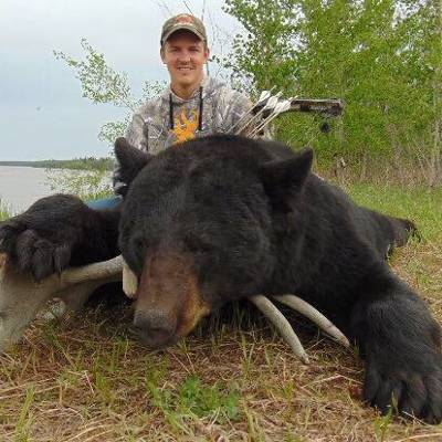 "REMOTE ""FLY~IN"" TROPHY BLACK BEAR & WOLF"