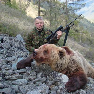 Siberian bear fall hunt
